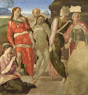 The Entombment (Michelangelo) - Image: Entombment Michelangelo