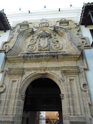 Torture chamber - Entrance to the Palace of Inqusition at Cartagena