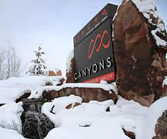 Canyons Resort entrance sign