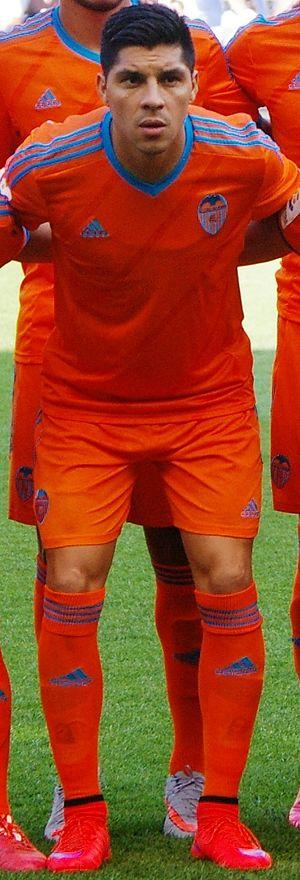 Enzo Pérez - Pérez with Valencia in 2015