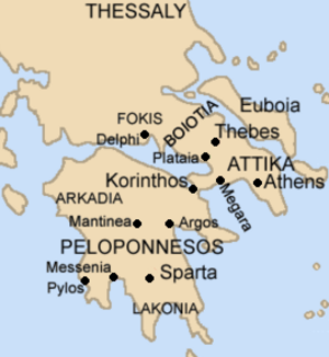 Corinthian War - Mainland Ancient Greece.
