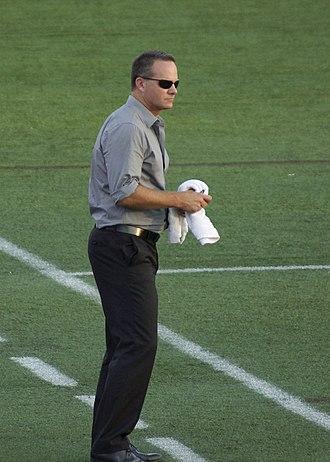 Eric Wynalda - Eric Wynalda while coaching for Atlanta Silverbacks on July 14, 2012