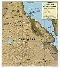 Mapa da Eritreia