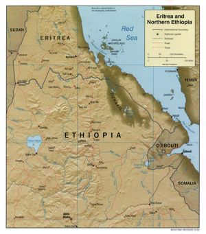 Geography of Eritrea - Map of Eritrea
