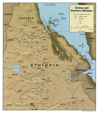 Geography of Eritrea - Map of Eritrea