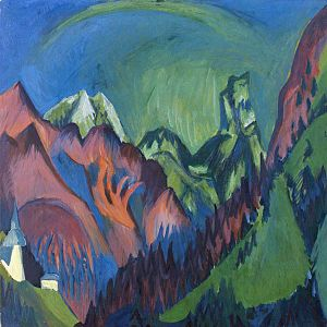Tinzenhorn - Zügen Gorge near Monstein (Ernst Ludwig Kirchner)