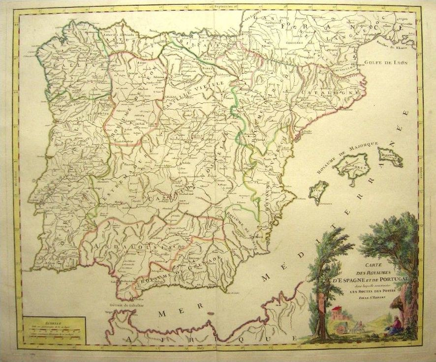 Espa%C3%B1a y Portugal (1770)
