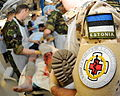 Estonian Personnel from the Joint Force Medical Group Treats an Exercise Casualty MOD 45152189.jpg