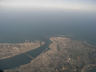 Chōshi City in Kanto, Japan