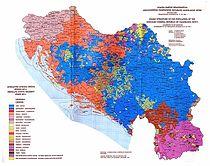 Етничка мапа СФРЈ 1991.
