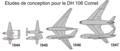 Etudes de conception pour le DH 106 Comet.png