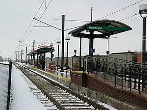 Evans station - The platform at Evans station