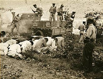 Bodo League massacre - Summary execution of South Korean political prisoners by the South Korean military and police at Daejeon, South Korea