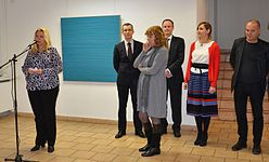 Exhibition of Norwegian artist Lars Strandh in Minsk Museum Modern Art 18.02.2015 01.JPG