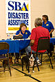 FEMA - 39514 - Disaster Victim and Pet Get Help From SBA.jpg