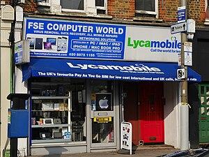 Lycamobile - Lycamobile signage, Garratt Lane, Earlsfield, London