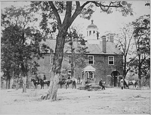 Battle of Fairfax Court House (June 1861) - Fairfax Court House, Virginia by Matthew Brady From U.S. National Archives