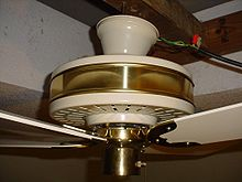 Ceiling fan wikipedia a close up of the dropped flywheel on a fasco charleston ceiling fan aloadofball Images