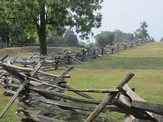 Manassas National Battlefield Park - Period fence at Manassas Battlefield