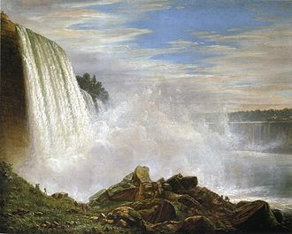 Ferdinand Richardt - Niagara Falls painted by Richardt
