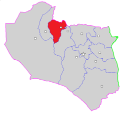 Map of Ferdows County in South Khorasan province