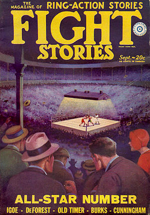 Fiction House - Image: Fight Stories pulp v 2n 4