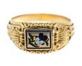 Fingerring av guld med emalj - Hallwylska museet - 110010.tif