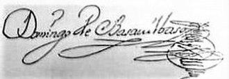 Domingo de Basavilbaso - Image: Firma de Domingo de Basavilbaso