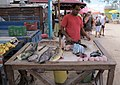 Fish seller Saint-Anne Guadeloupe 2010-03-27.jpg