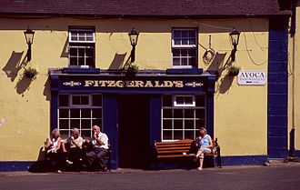 Ballykissangel - Fitzgerald's, a pub in Avoca that was used as a primary exterior set in the series.