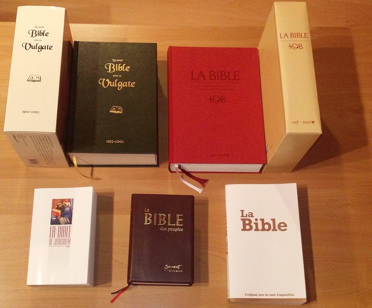 Traductions de la Bible en français — Wikipédia