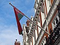 Flag of Belarus, Embassy of Belarus, Kensington Court, London (25th September 2014).JPG
