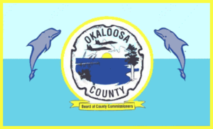 Crestview, Florida - Image: Flag of Okaloosa County, Florida