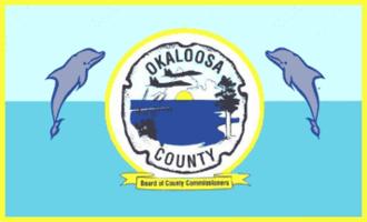 Okaloosa County, Florida - Image: Flag of Okaloosa County, Florida