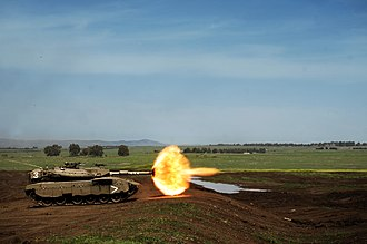 188th Armored Brigade - A tank during a training day held in the Golan Heights for the 188th Armored Brigade