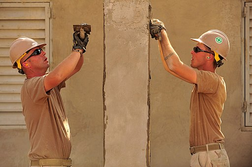 Flickr - Official U.S. Navy Imagery - Seabees work on school in Djibouti.