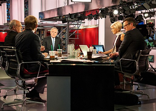 "Flickr - Official U.S. Navy Imagery - The SECNAV interviews with MSNBC broadcast journalists on the set of the weekday morning talk show ""Morning Joe"" in New York."