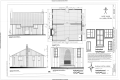 Floor Plan, South and East Elevations, Interior Elevation, and Window Details - Manatoc Reservation, Buena Vista Cabin, 1075 Truxell Road, Peninsula, Summit County, OH HABS OH-2483-C (sheet 1 of 1).png