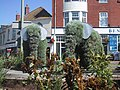 Floral Elephants on Bentley's Roundabout - geograph.org.uk - 933011.jpg