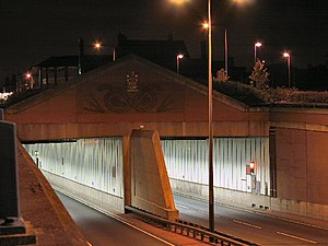 Meir, Staffordshire - Entrance to the tunnel under the roundabout