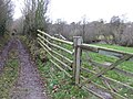 Footpath and byway junction - geograph.org.uk - 628911.jpg