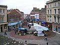 Fore Street - Admiral Blake statue and the Farmers' Market - geograph.org.uk - 756090.jpg