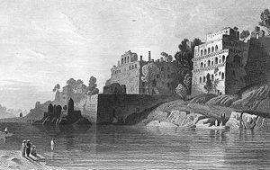 Baharampur - Fort at Baharampur, c. 1850