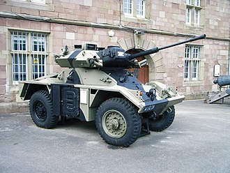 Vehicle armour - The British Fox CVR(W) was built largely of aluminium.