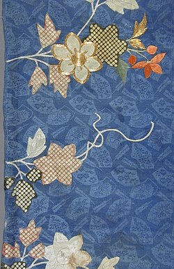 Fragment of a Kimono (Kosode) with Design of Clematis Flowers LACMA M.39.2.269 (2 of 2).jpg