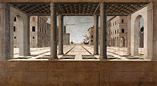 Francesco di Giorgio Martini (attributed) - Architectural Veduta - Google Art Project.jpg