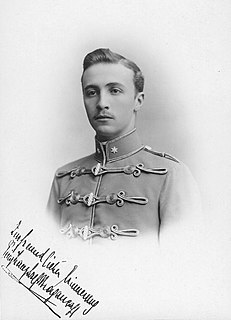 Prince Francis Joseph of Braganza Austro-Hungarian Army officer