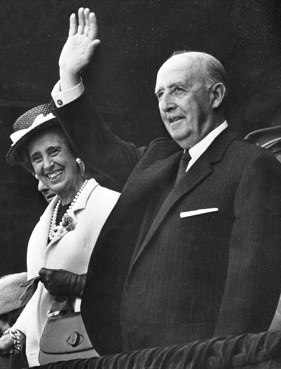 Francisco Franco and Carmen Polo