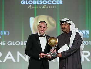 Globe Soccer Awards - Franck Ribéry with the Best Player of the Year award (2013)
