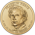 Franklin Pierce $1 Presidential Coin obverse sketch.png